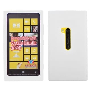 INSTEN Solid White Skin Phone Case Cover for Nokia 920 Lumia