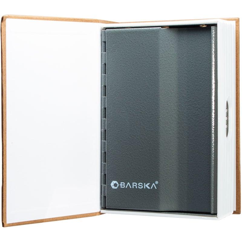 Barska Optics Book Safe with Combination Lock, Tan (Plastic)