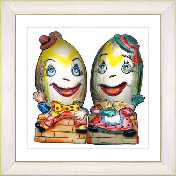Zhee Singer 'Humpty Dumpty' White Framed Art Print