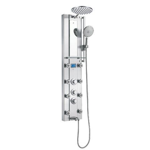 Blue Ocean 52-inch Stainless Steel Thermostatic Shower Panel Tower - Silver
