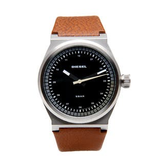 Diesel Men's Brown Leather Band Dress Watch|https://ak1.ostkcdn.com/images/products/8015950/Diesel-Mens-Brown-Leather-Band-Dress-Watch-P15379594.jpg?impolicy=medium