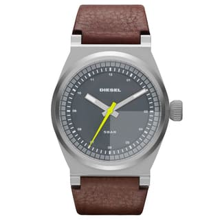 Diesel Men's Grey Dial Brown Leather Strap Dress Watch|https://ak1.ostkcdn.com/images/products/8015956/8015956/Diesel-Mens-Grey-Dial-Brown-Leather-Strap-Dress-Watch-P15379595.jpg?impolicy=medium