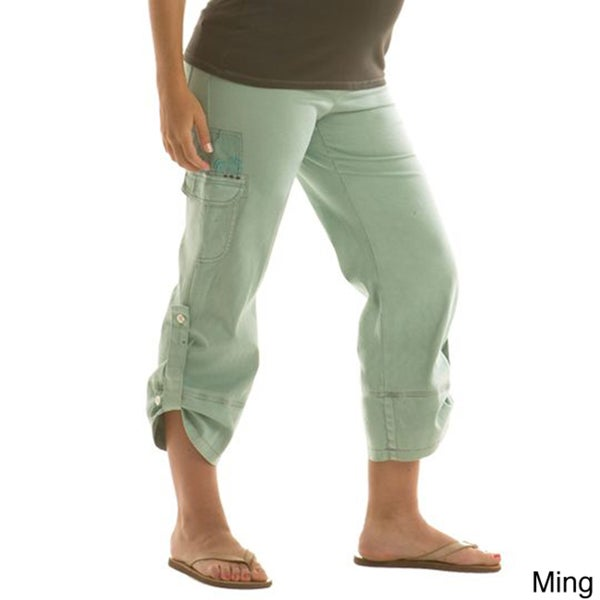 Juliet Dream Crop Cargo Maternity Pants