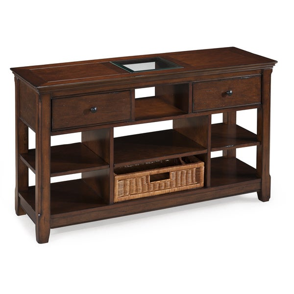Tanner collection wood rectangular sofa table free for 65 sofa table