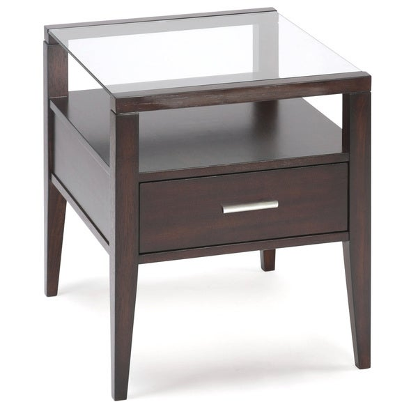 Baker Wood Collection Rectangular End Table