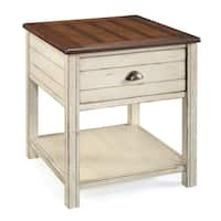 Havenside Home Asilomar  Alabaster Rectangular Storage End Table