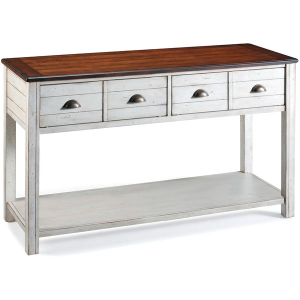'Bellhaven' Alabaster Finish 2-drawer Sofa Table