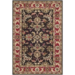 Safavieh Handmade Heritage Timeless Traditional Chocolate Brown/ Red Wool Rug (3' x 5')