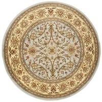"""Safavieh Lyndhurst Traditional Oriental Grey/ Beige Rug - 5'3"""" x 5'3"""" round"""