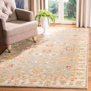 Safavieh Handmade Antiquity Blue-grey/ Beige Wool Rug (9' x 12')