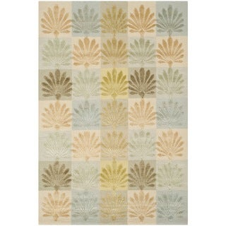 Martha Stewart Sanctuary Oasis Silk/ Wool Rug (9'6 x 13'6)