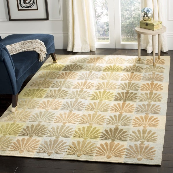 "Martha Stewart by Safavieh Sanctuary Oasis Silk/ Wool Rug - 9'-6"" X 13'-6"""