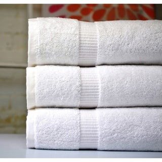 Royal Turkish Cotton White Oversized Highly Absorbent Towel Bath Sheet