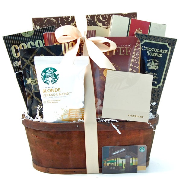 Shop Starbucks Coffee And Gift Card Gift Basket Free Shipping