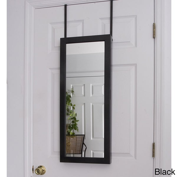 Space Saving Over-the-Door/ Wall Hanging Mirrored Jewelry
