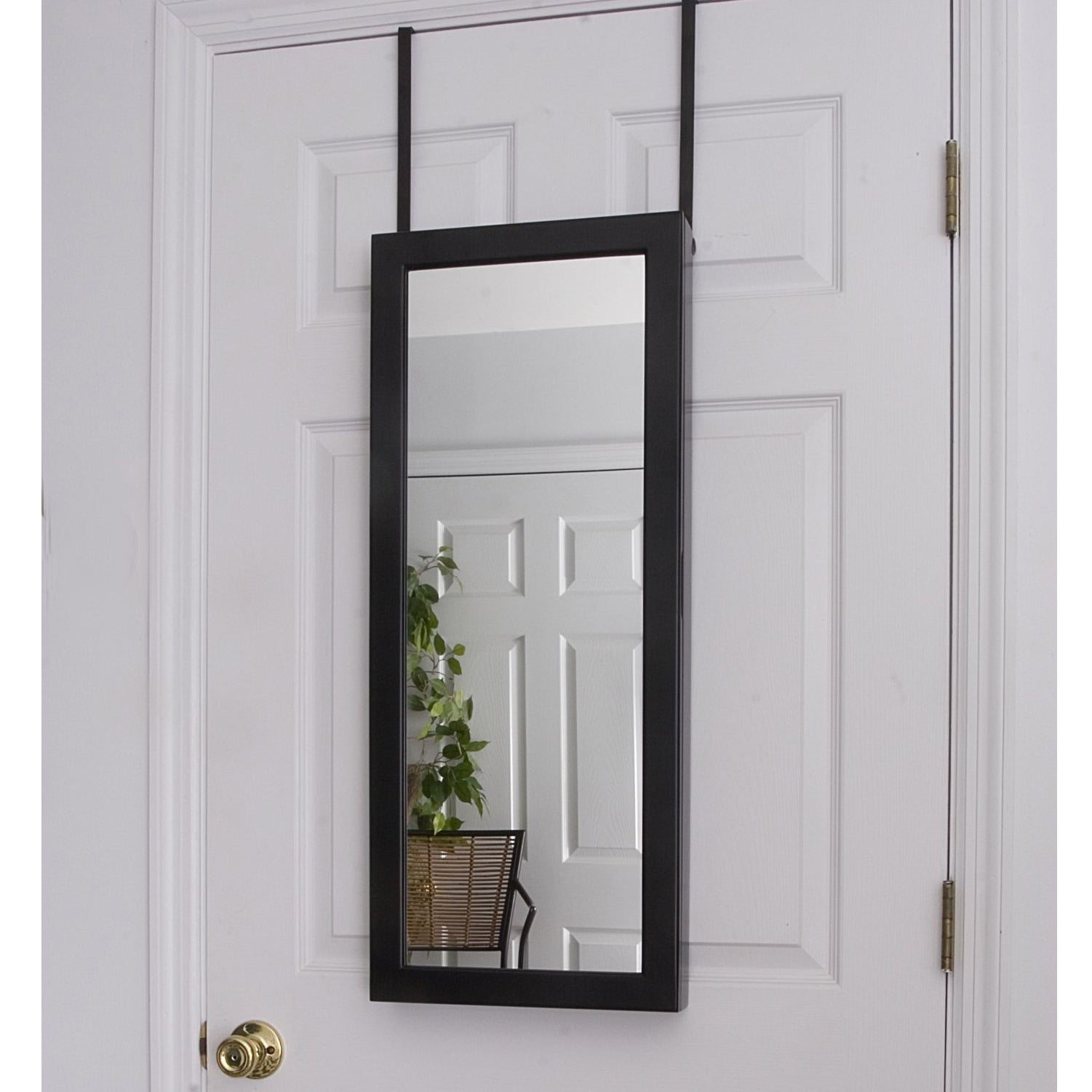 Space Saving Over-the-Door/ Wall Hanging Mirrored Jewelry ...