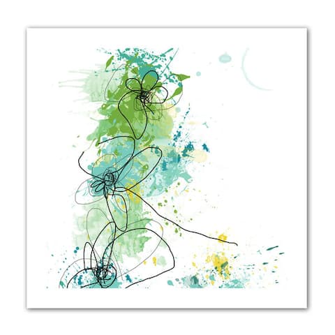 Jan Weiss 'Green Botanica ' Unwrapped Canvas