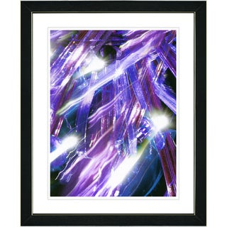 Studio Works Modern 'Aurora - Blue' Framed Print