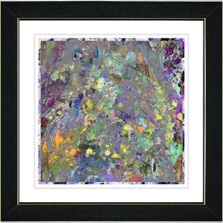 Studio Works Modern 'Spill - Yellow' Framed Print