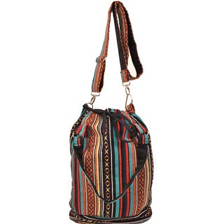 Handmade Boho Chic Bucket Bag (Nepal)