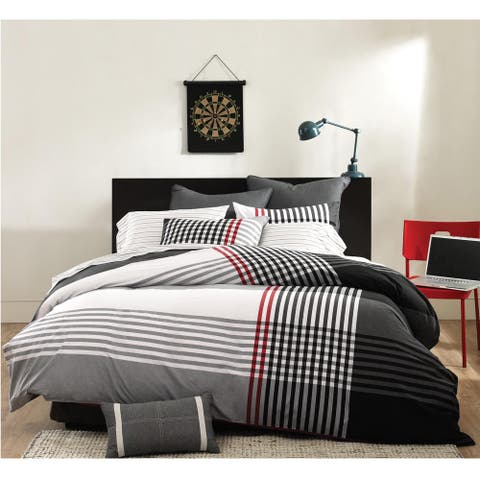 INK+IVY Blake Black Comforter Set