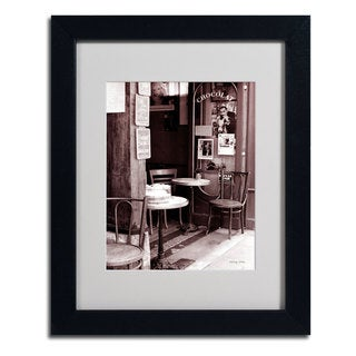 Kathy Yates 'Paris Cafe' Framed Mattted Art