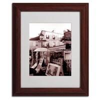 Kathy Yates Vertical 'Montmartre 2' Framed Mattted Art