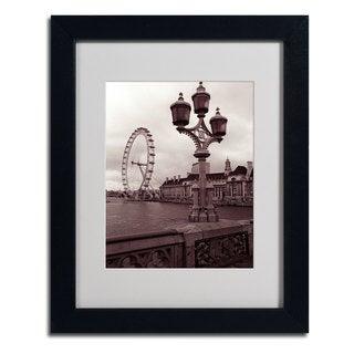 Kathy Yates 'London Eye 2' Framed Mattted Art