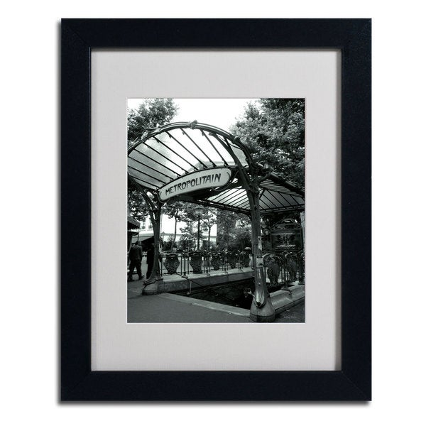 Kathy Yates 'Le Metro as Art' Vertical Framed Mattted Art