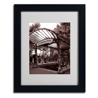 Kathy Yates 'Le Metro as Art 2' Framed Mattted Art