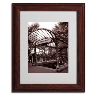 Kathy Yates 'Le Metro as Art 2' Framed Mattted Wall Art