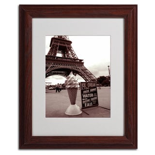 Kathy Yates 'Eiffel Tower Ice Cream Cone 2' Vertical Framed Mattted Art