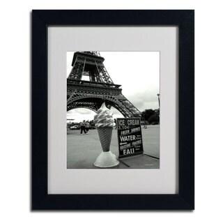 Kathy Yates 'Eiffel Tower Ice Cream Cone' Framed Mattted Art