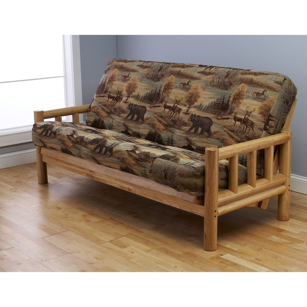 Pine Canopy Yellowstone Natural Full Size Futon Frame And Mattress Set