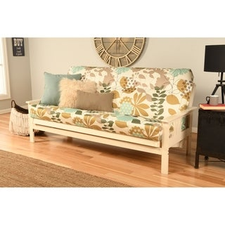 Clay Alder Home Mark Antique White Wood Futon Frame with Innerspring Mattress