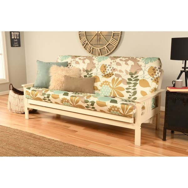 Shop Porch & Den Mark Antique White Wood Futon Frame with ...