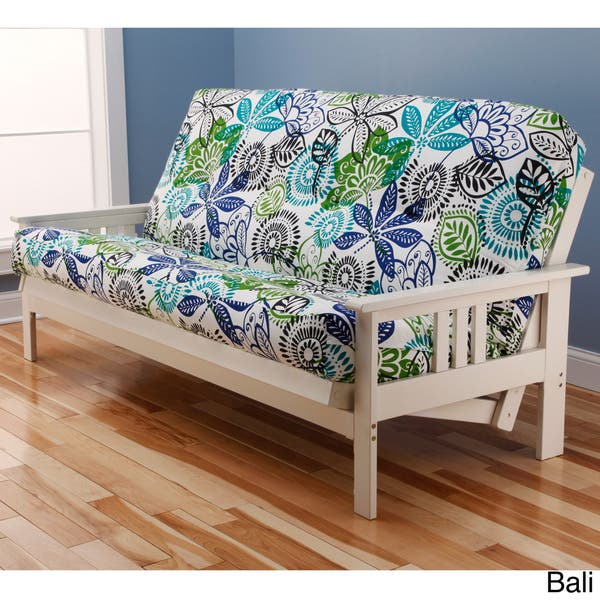 Fine Shop Porch Den Mark Antique White Wood Futon Frame With Creativecarmelina Interior Chair Design Creativecarmelinacom