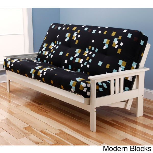 Somette Beli Mont Multi Flex Antique White Wood Futon Frame With Innerspring Mattress Free Shipping Today Com 15379950