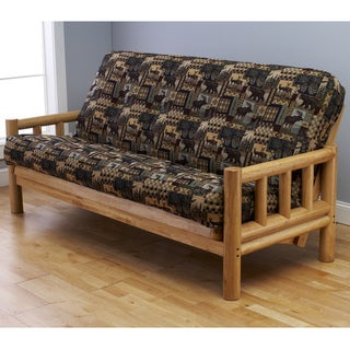 Somette Aspen Lodge 'Peter's Cabin' Natural Futon Frame and Innerspring Mattress Set