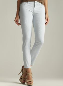 Two By Vince Camuto Ankle Zip Pinstriped Jean