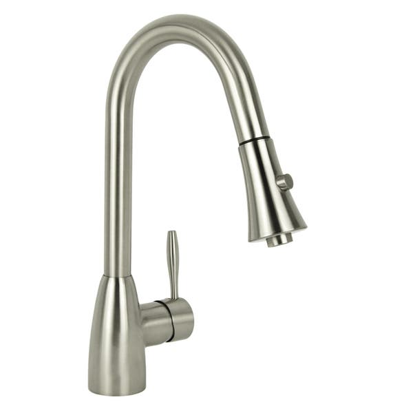 Shop Modern European Brushed Nickel Pull Down Kitchen Faucet ...