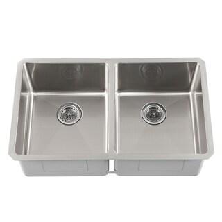 Schon Undermount 16 Gauge Stainless Steel Radius Corner 50/50 Kitchen Sink