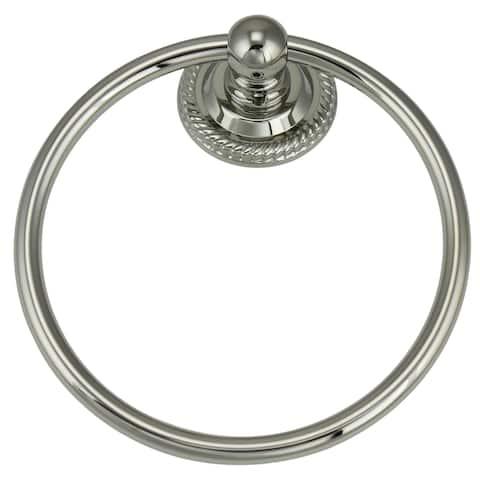 Jado 818 Series Platinum Nickel Towel Ring - Grey