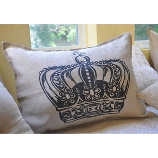 King Crown Print Decorative Small Bolster Pillow