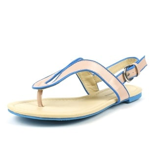 Mark & Maddux Women's 'CONI-03' Taupe 2-tone Color Block Flat Sandals