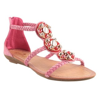 Machi by Beston Women's 'APPLE-2' Flat Gladiator Sandals