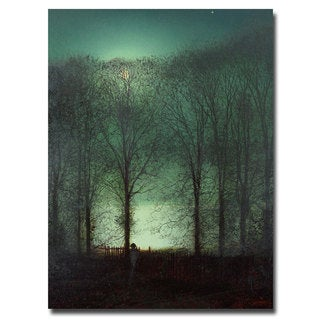 John Atkinson Grimshaw 'Figure in the Moonlight' Giclee Canvas Art