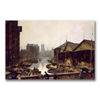 John Grimshaw 'Leeds Bridge 1880' Canvas Art