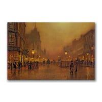 John Grimshaw 'A Street at Night' Canvas Art - Multi