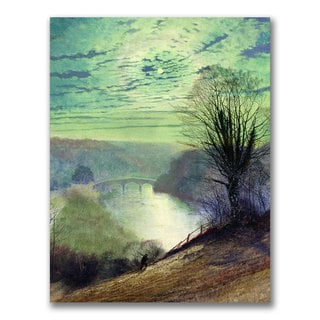 John Grimshaw 'On the Tees near Barnard Castle' Canvas Art